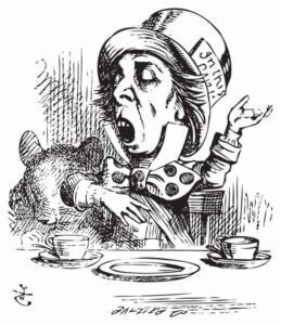 Drawing of Alice In Wonderland's Mad Hatter from
