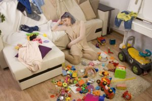 Young, stressed out mother suffering from low libido