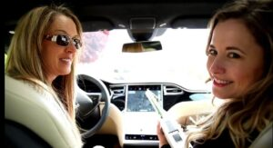 Reduce EMF in your environment! Robyn Openshaw and Libby Darnell test Robyn's Tesla for EMF.