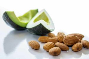 Picture of almonds and avocados from