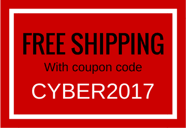 Use Coupon Code CYBER2017 for Free Shipping
