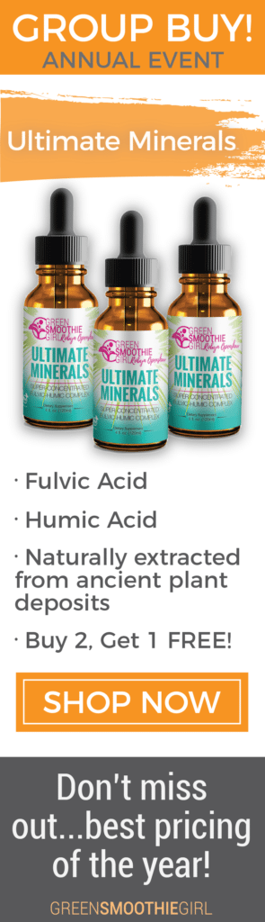 GreenSmoothieGirl's Annual Group Buy--Buy Two, Get One Free on Ultimate Minerals