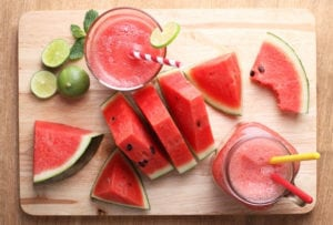 watermelon lime smoothie