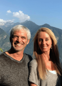 Robyn Openshaw of GreenSmoothieGirl and Dr. Tom O'Bryan of TheDr.Com in the Swiss Alps.