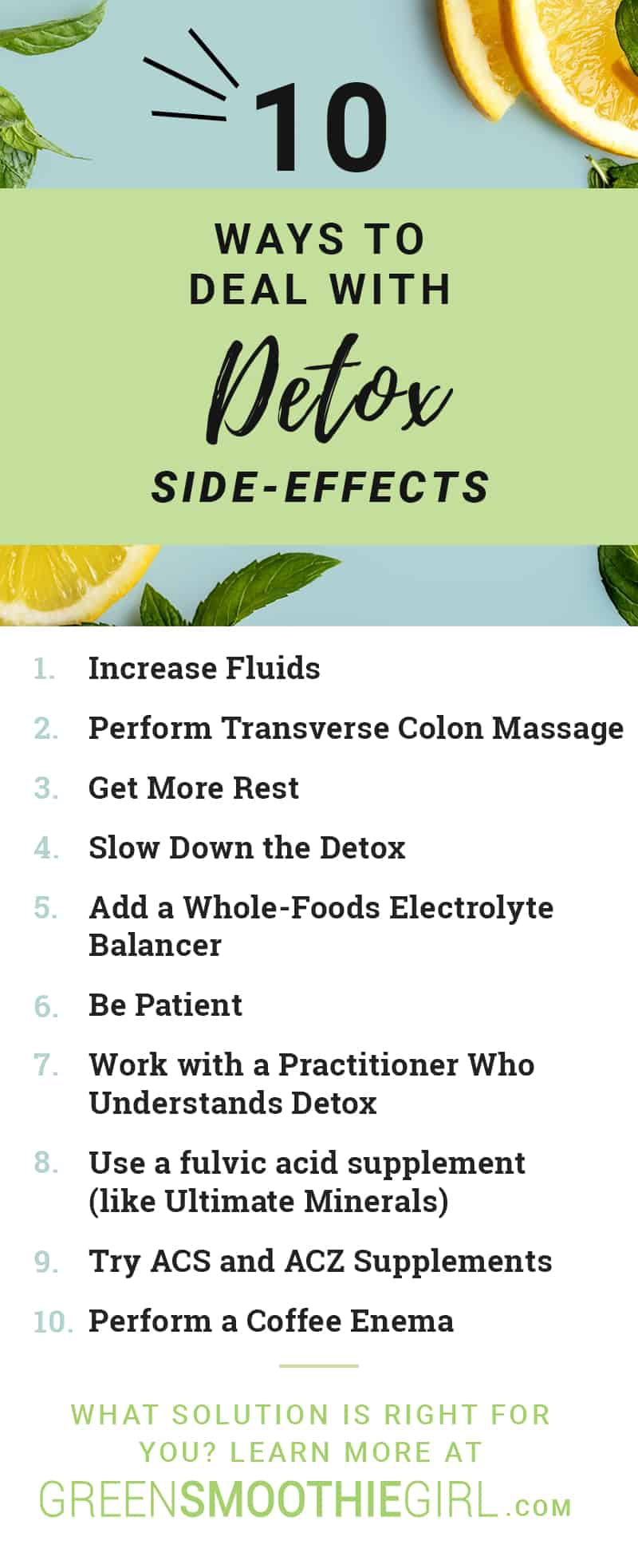 10 Ways to Deal with Detox Side-effects | Herxheimer Reaction: What Is It, How Do I Clear It?