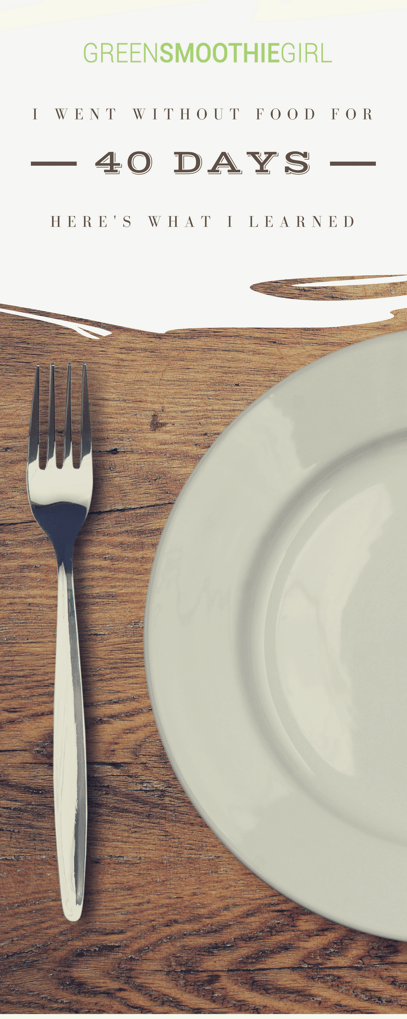Placard | I Went Fasting Without Food for 40 Days | Here's What I Learned