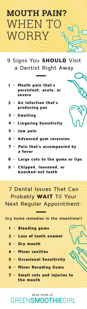 What to Do If Your Teeth Hurt | Green Smoothie Girl