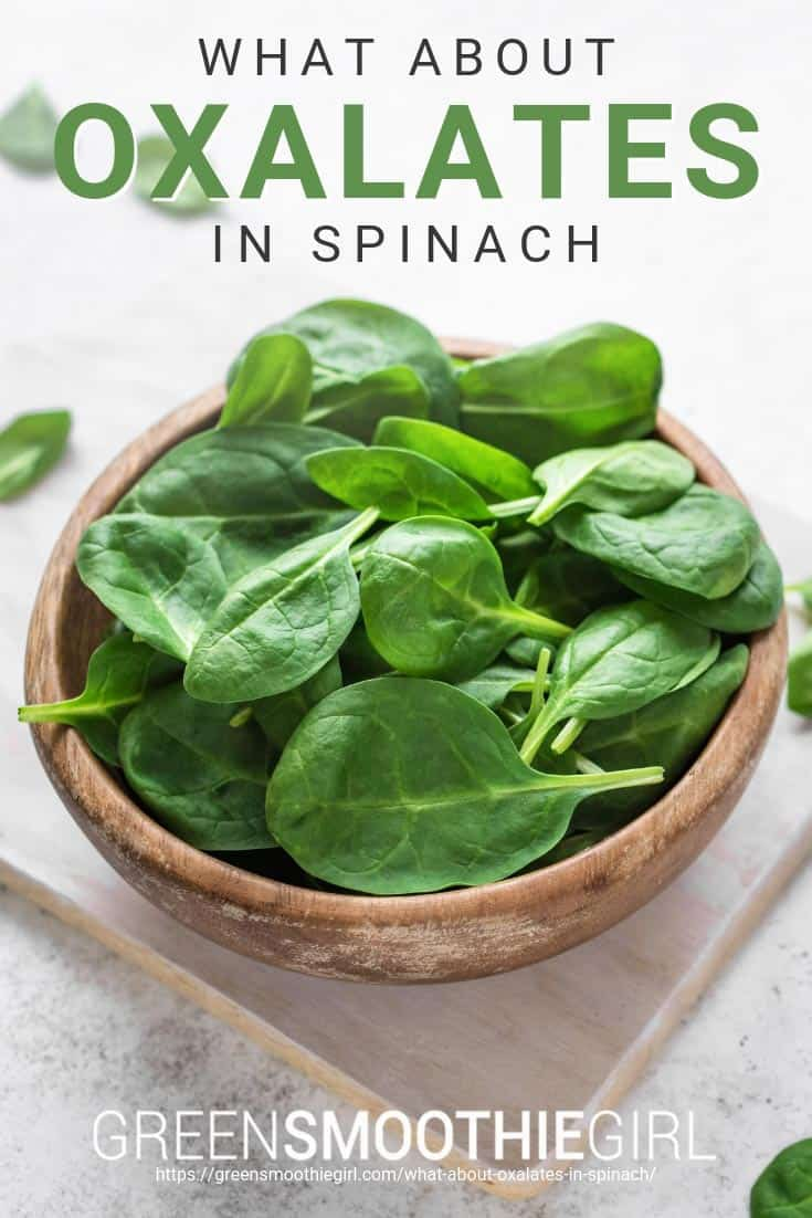 What about oxalates in spinach
