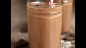 "Photograph of the Berry Nutty Green Smoothie, from ""10 Easy Green Smoothies Kids Will Love"" at Green Smoothie Girl."