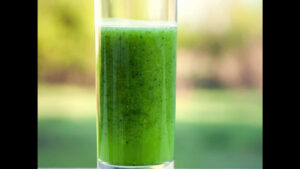 "Photograph of a Tart Berry Blast Green Smoothie, from ""10 Easy Green Smoothies Kids Will Love"""