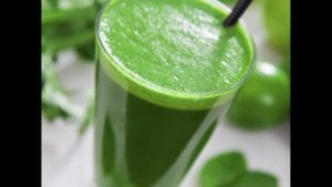 "Photograph of the turning green smoothie, from ""10 Easy Green Smoothies Kids Will Love"" at Green Smoothie Girl."