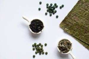 "Photograph of dried seaweed and kelp in various forms, from ""The Health Benefits of Kelp and Dulse (and How to Eat It)"" at Green Smoothie Girl."