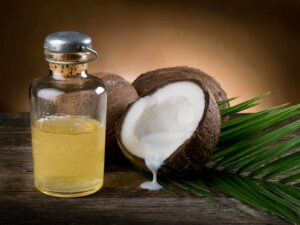 Photograph of coconut oil, from