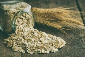 Photo of rolled oats, from