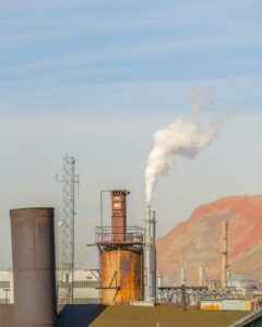 smog from a powerplant in utah