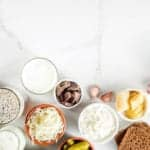 "Photo of bowls of probiotic foods topview from ""What Are Probiotics Benefits? 11 Signs You're Deficient and What to Do About It"" blog post by Green Smoothie Girl"
