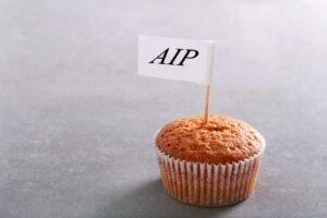 Photo of cupcake with AIP label from