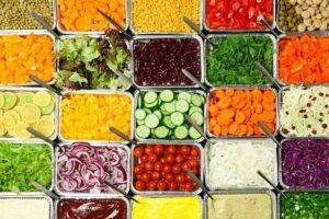 "Photo of salad bar from ""5 Easy Ways to Make Gorgeous and Delicious Complete-Meal Salads"" at Green Smoothie G"