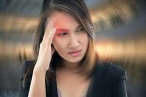 Photo of woman with dizziness from