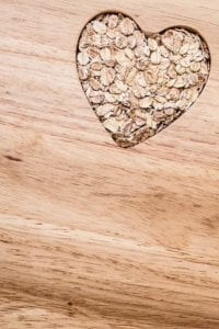 "Photo of heart shaped oats from ""What Happened When I Started Taking Beta Glucan Every Day"" at Green Smoothie Girl."