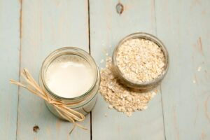 Photo oat milk from