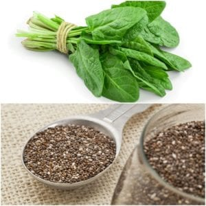 Photo of chia and spinach from