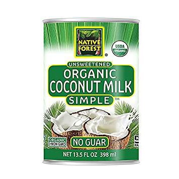 can of unsweetened organic coconut milk