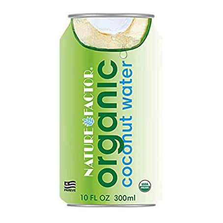 can of organic coconut water