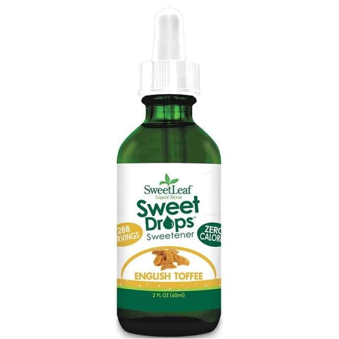 bottle of Sweet Drops liquid stevia- english toffee flavor