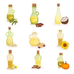 Graphic of healthy oils from