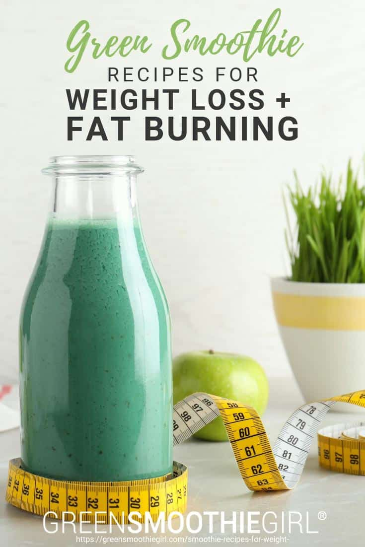 Photo of green smoothie with apple and measuring tape in background from