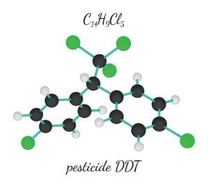 Image of Pesticide DDT chemical molecule from