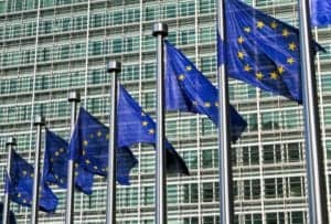 Photo of European flags from