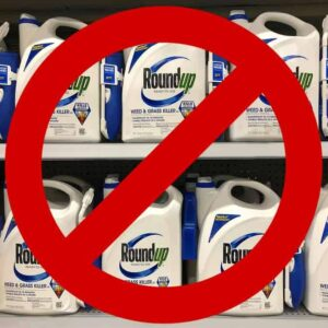 Photo of Roundup on store shelf with No symbol from