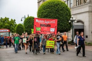 Photo of rally protesters against Monsanto from