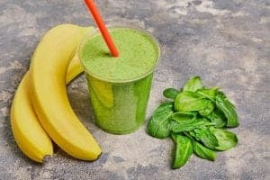 "Photo of banana and spinach with green smoothie from ""Banana Split Smoothie"" recipe by Green Smoothie Girl"