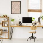 "Photo of clean home office from ""Reduce EMF exposure in your home"" by Green Smoothie Girl"
