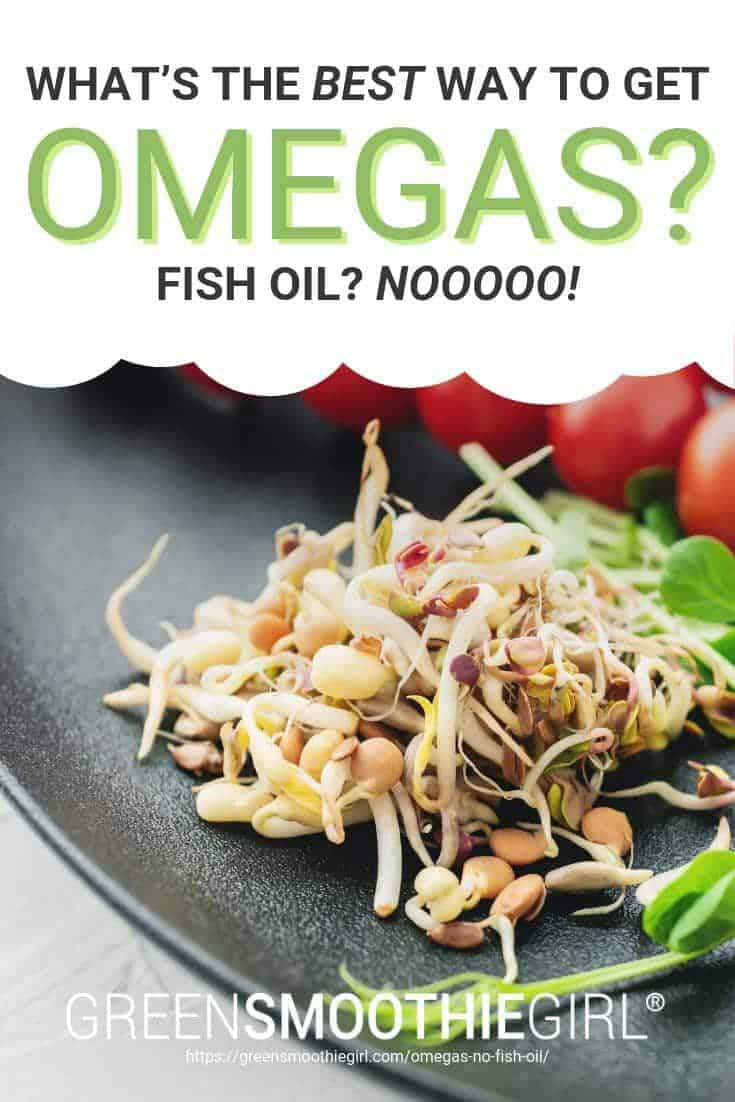 "Photo of sprouted flax seed with post's text from ""What's The Best Way to Get Omegas? Fish Oil? Nooooo!"" by Green Smoothie Girl"