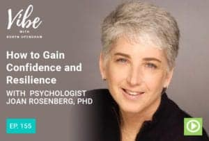 "Photo of Dr. Rosenberg smiling from ""How to Gain Confidence and Resilience with Psychologist Joan Rosenberg, PhD"" by Green Smoothie Girl"