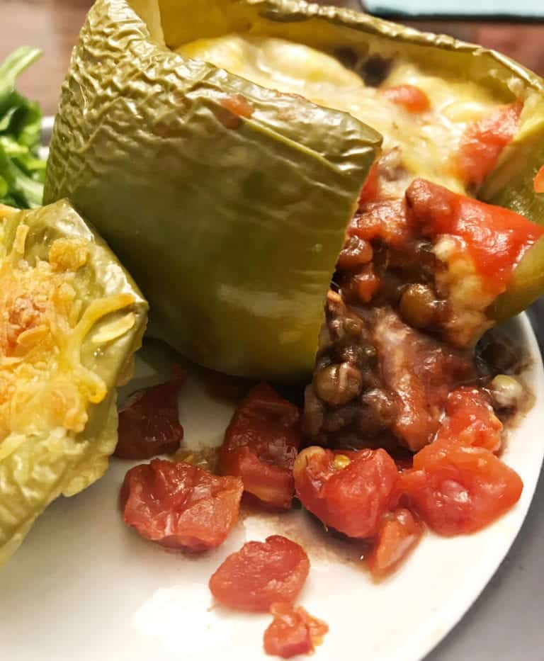 "Photo of lentil-stuffed peppers from ""Lentil-Stuffed Peppers"" recipe by Green Smoothie Girl"