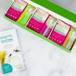 "Photo of open Flash Fast kit box showing individual mini meals and fasting booklet from ""Why I developed the Flash Fast"" by Green Smoothie Girl"