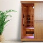"Photo of a standalone Influence Sauna from ""The Science Behind Sauna's Effect On Your Immune System"" blog post by Green Smoothie Girl"