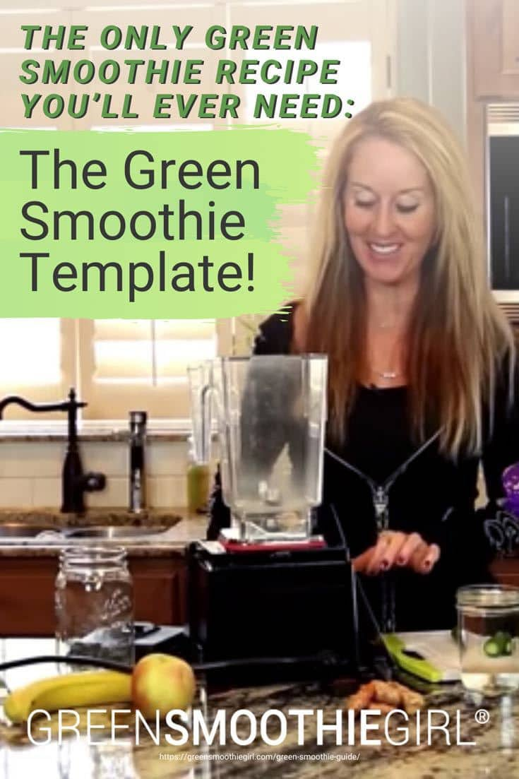 "Photo of Robyn Openshaw  blending a smoothie from ""[Demo] The Only Green Smoothie Recipe You'll Ever Need: The Green Smoothie Template!"" blog post by Green Smoothie Girl"